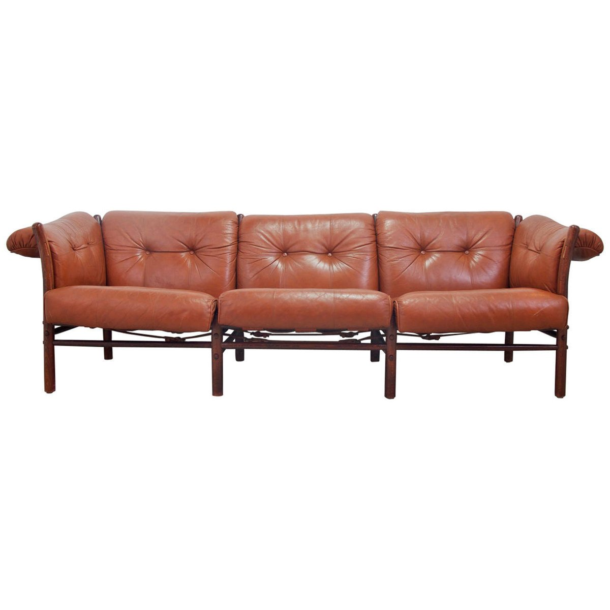 vintage swedish ilona leather sofa by arne norell for. Black Bedroom Furniture Sets. Home Design Ideas