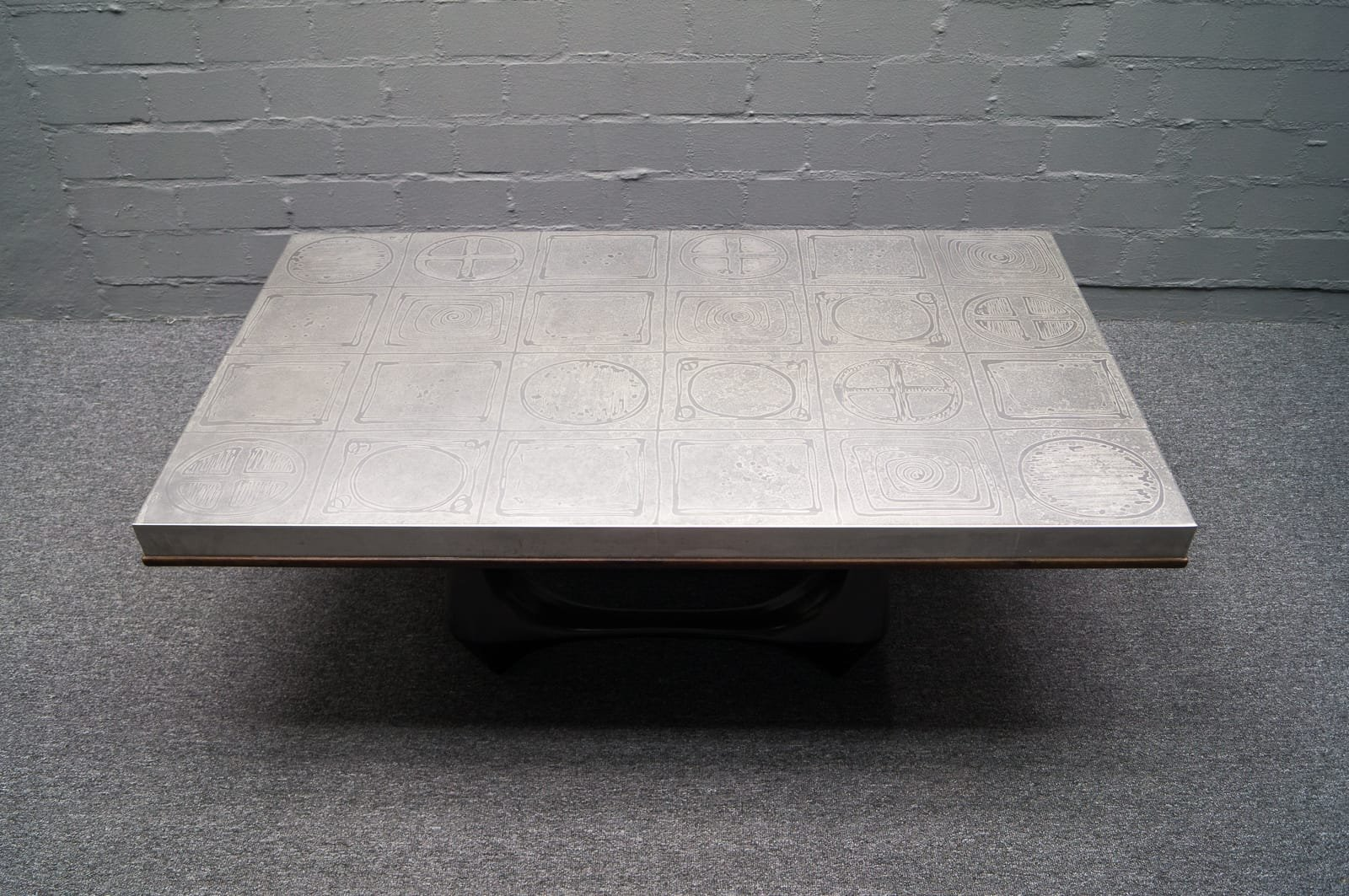 Good Aluminum Coffee Table By Heinz Lilienthal, 1960s 3. Previous