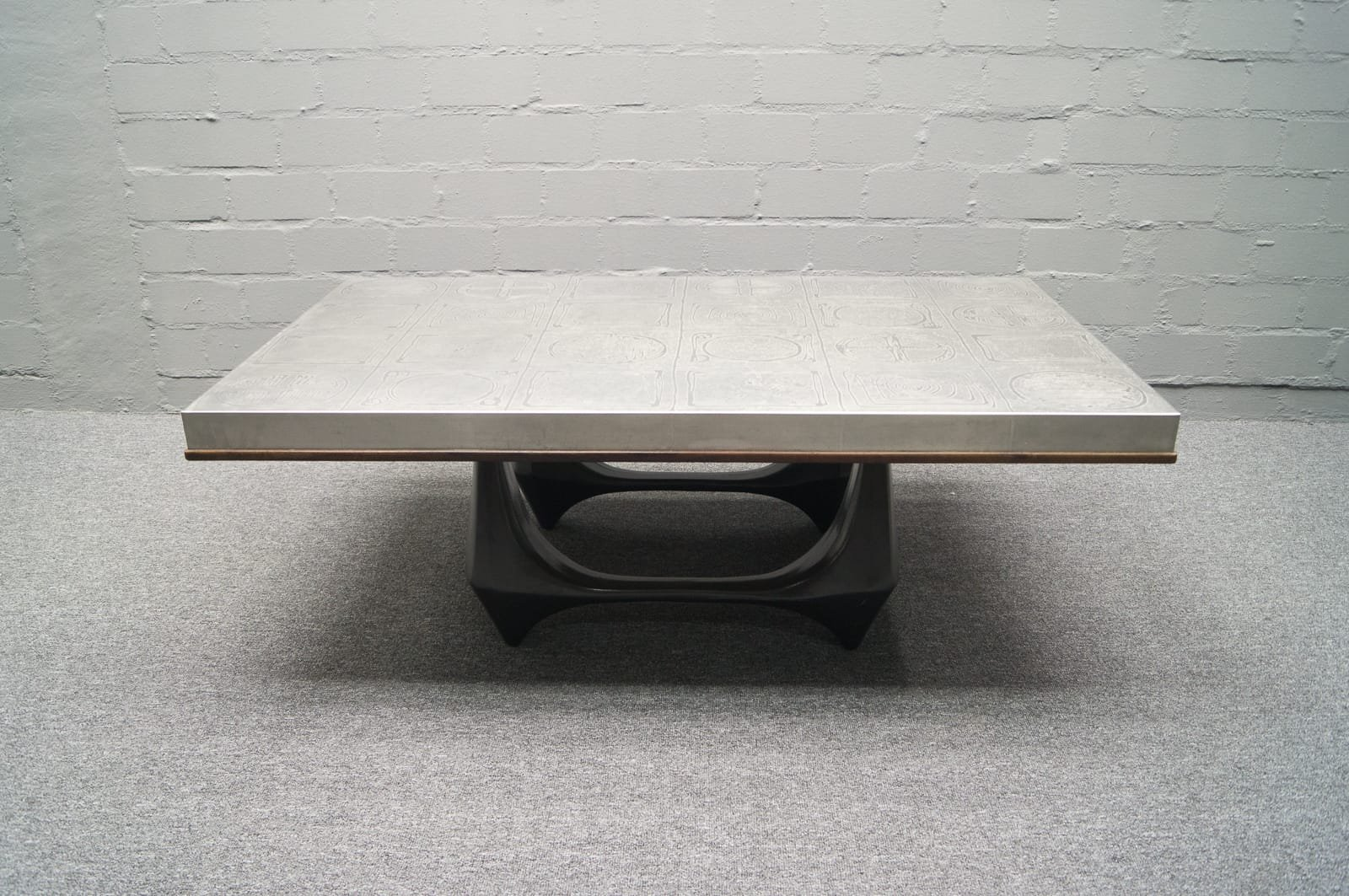 Aluminum Coffee Table By Heinz Lilienthal 1960s