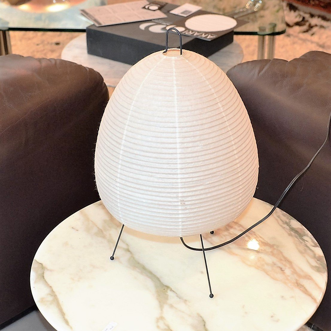 Vintage japanese akari 1a table lamp by isamu noguchi for ozeki co for - Isamu noguchi table basse ...