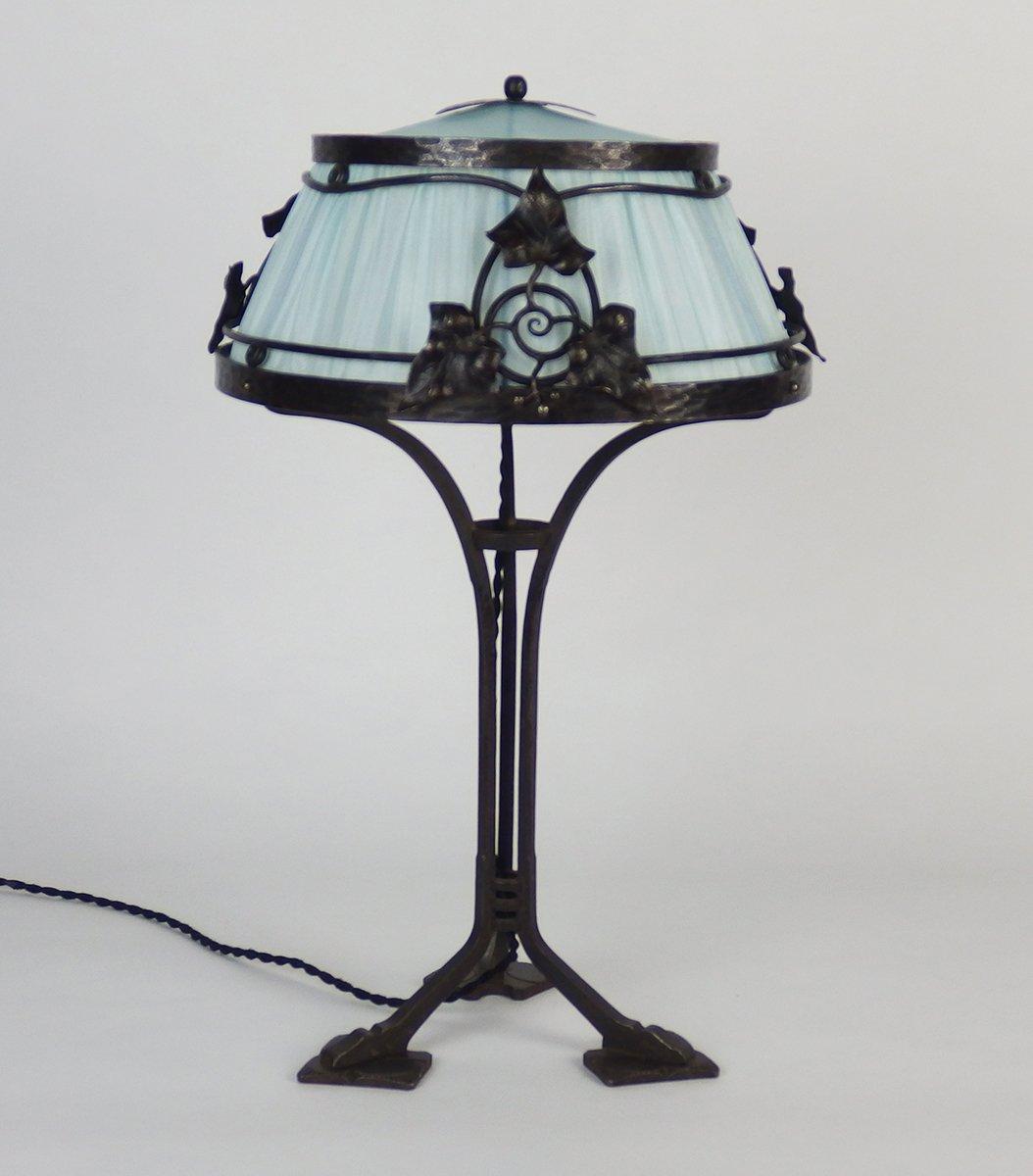 Lampe De Bureau En Fer Forg France 1910s En Vente Sur Pamono # Meuble Bureauen Fer