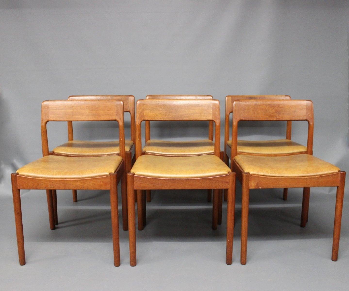 Dining Room Chairs by N.O. Møller for J.L. Møller, 1960s, Set of 6 ...