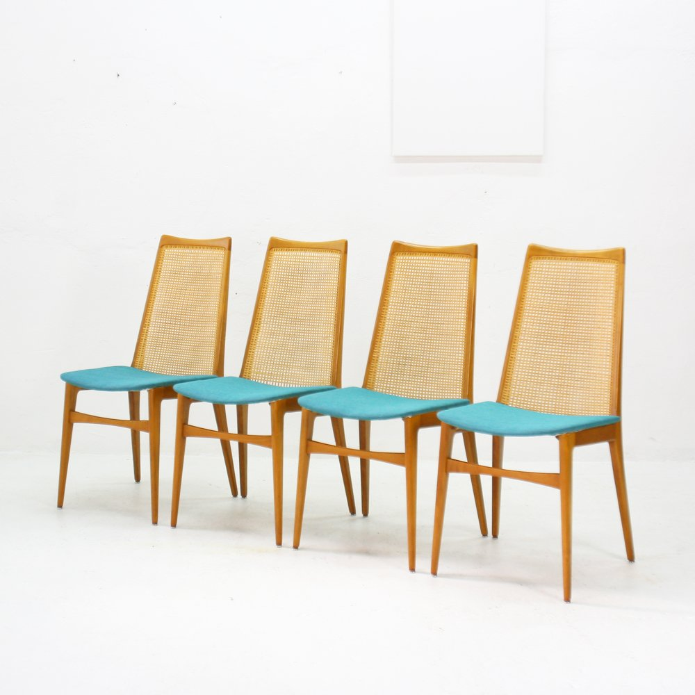 Rattan dining chairs 1960s set of 4 for sale at pamono for Dining chairs 4 set