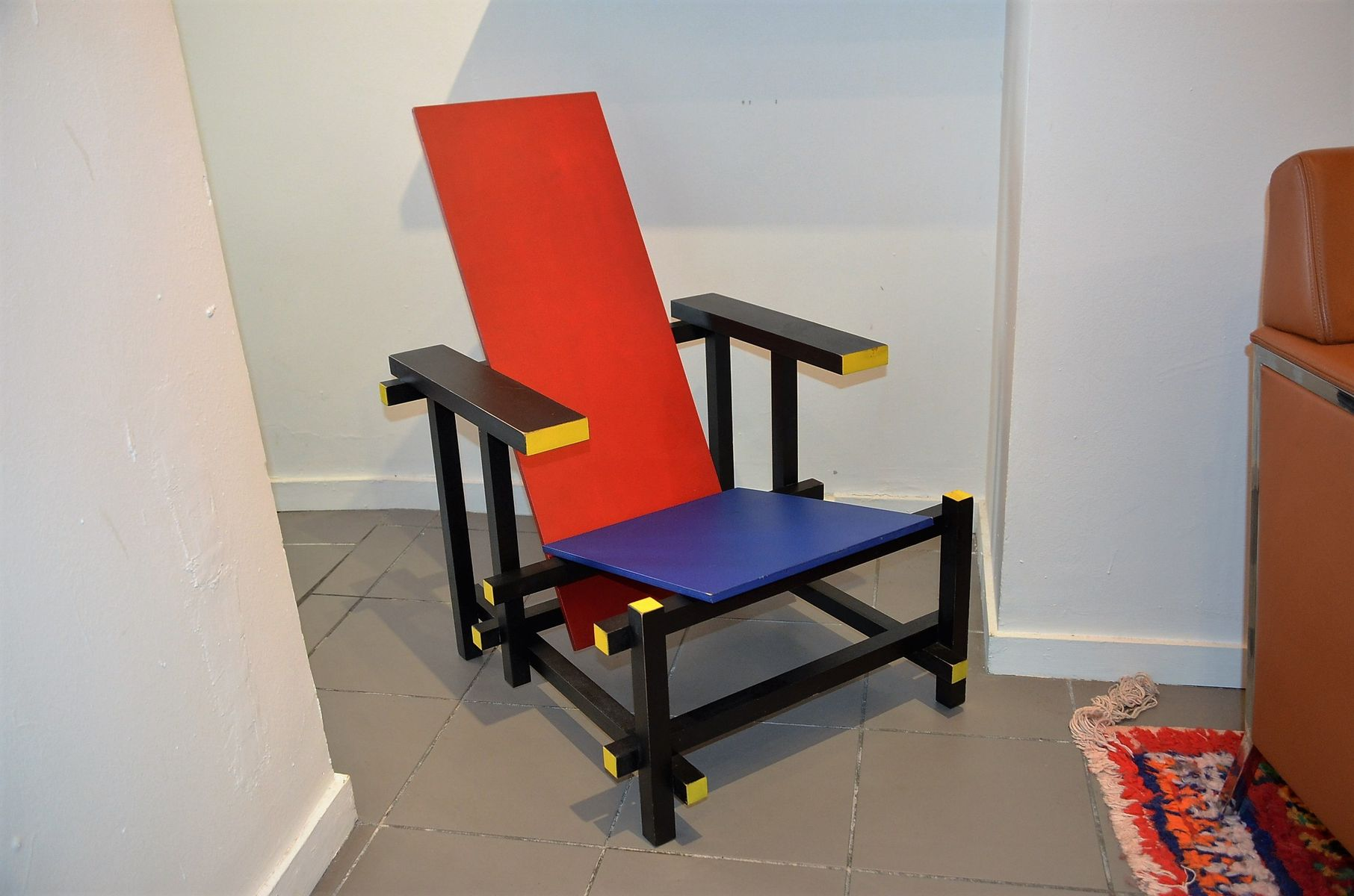 Gerrit rietveld chair for sale - Red And Blue Chair By Gerrit Rietveld For Cassina