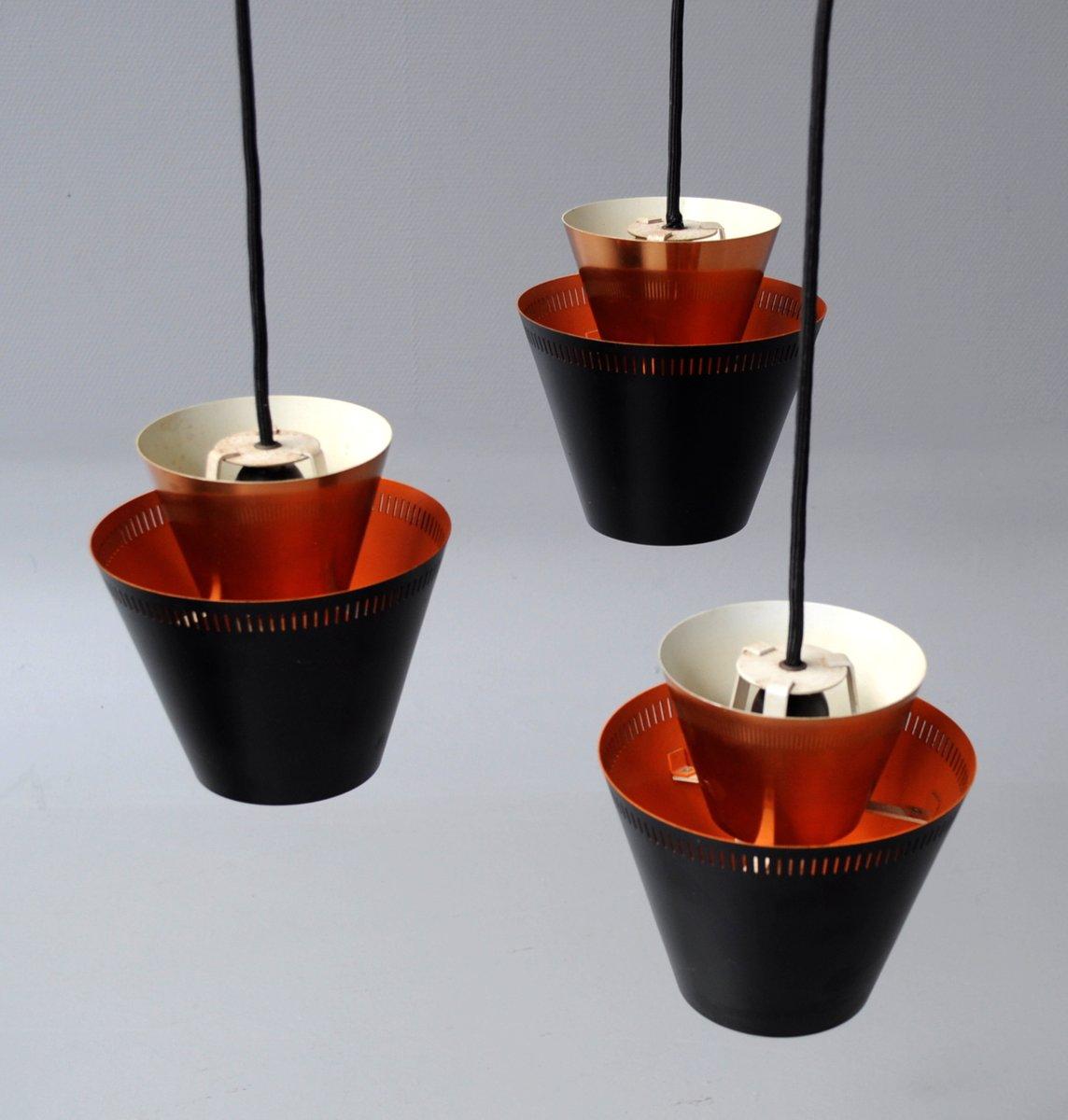 danish copper pendant light by jo hammerborg for fog u0026 mrup 1960s
