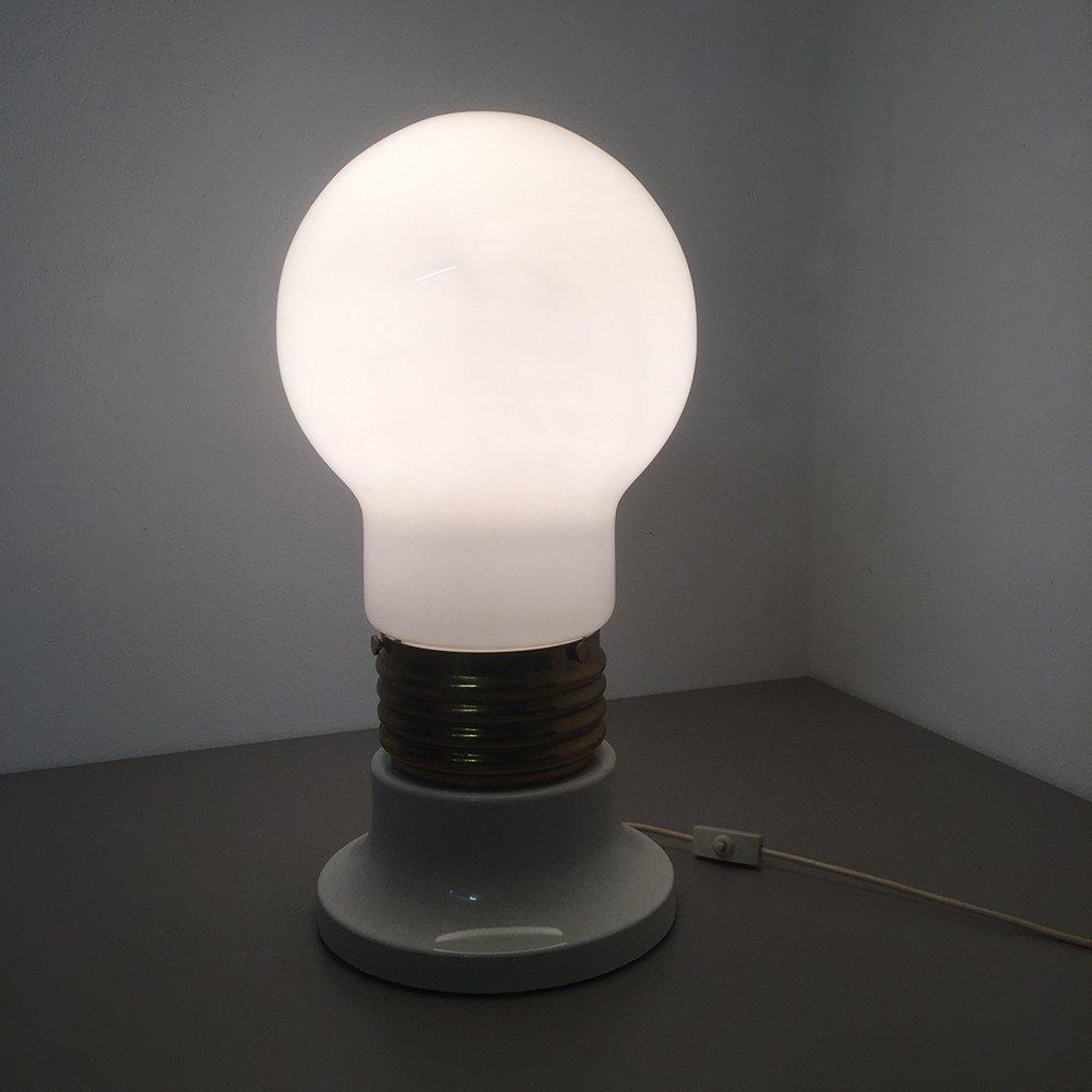 Italian Giant Glass Bulb Table Lamp, 1970s