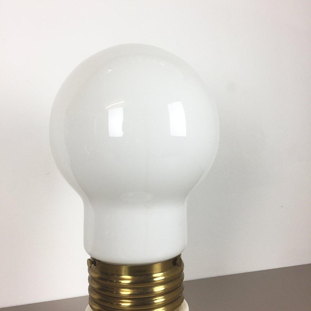 Giant Light Bulb Lamp Italian Giant Glass Bulb Table Lamp 1970s For Sale At Pamono