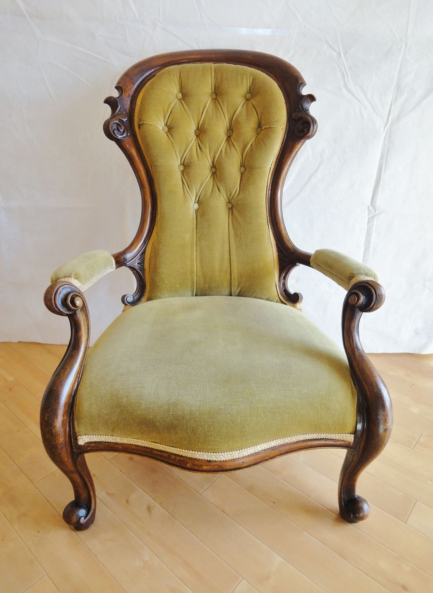 Antique victorian armchair - Antique Victorian Armchair 0