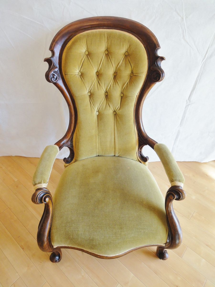 Antique victorian armchair - Antique Victorian Armchair 27