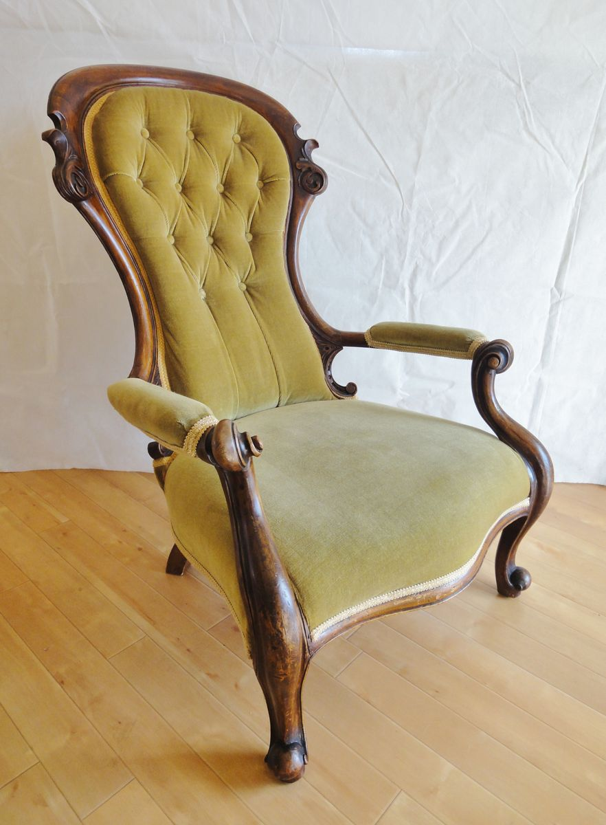 Antique victorian armchair - Antique Victorian Armchair 32