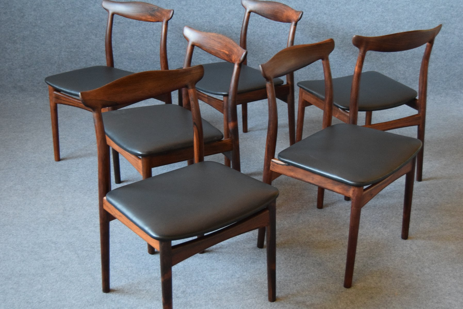 Perfect Mid Century Rosewood Dining Chairs By Erik Wørts For Vamo, Set Of 6