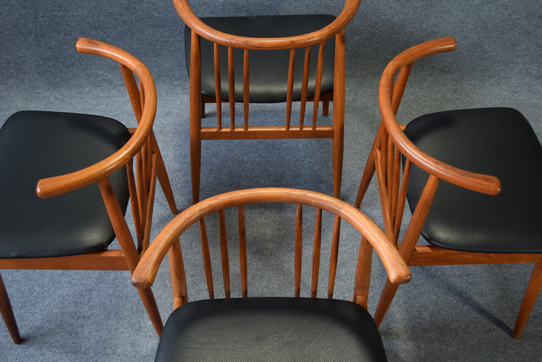 Teak dining chairs from hp hansen randers set of 4 for sale at teak dining chairs from hp hansen randers set of 4 sciox Choice Image
