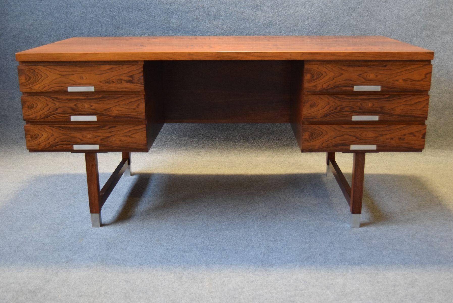 palisander schreibtisch von kai kristiansen f r schou. Black Bedroom Furniture Sets. Home Design Ideas
