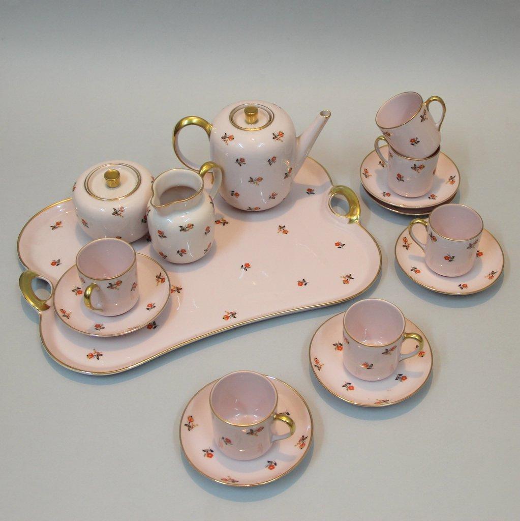 franz sisches vintage kaffee service von jean haviland f r. Black Bedroom Furniture Sets. Home Design Ideas