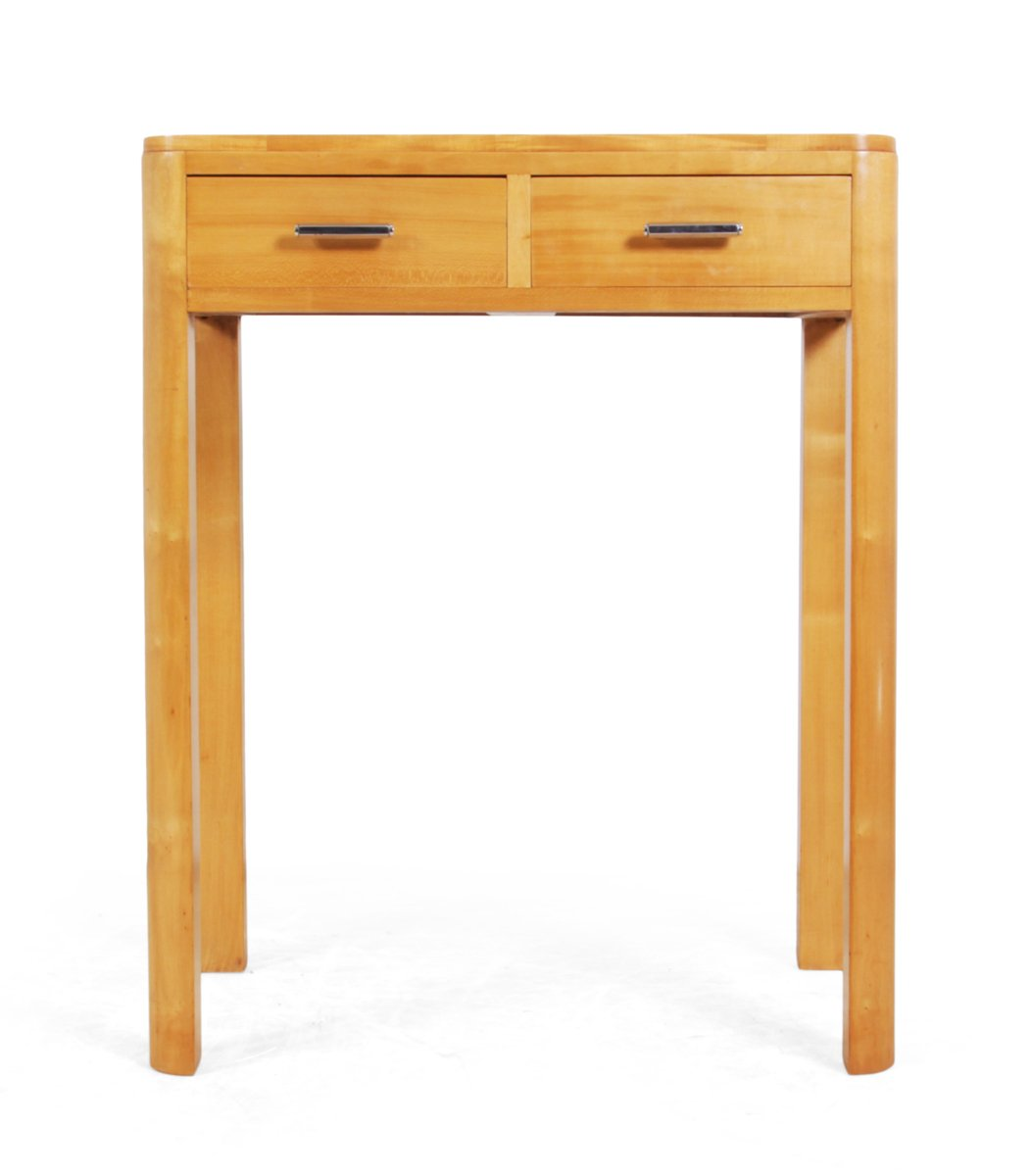 Vintage art deco satin birch side table for sale at pamono - Deco table vintage ...