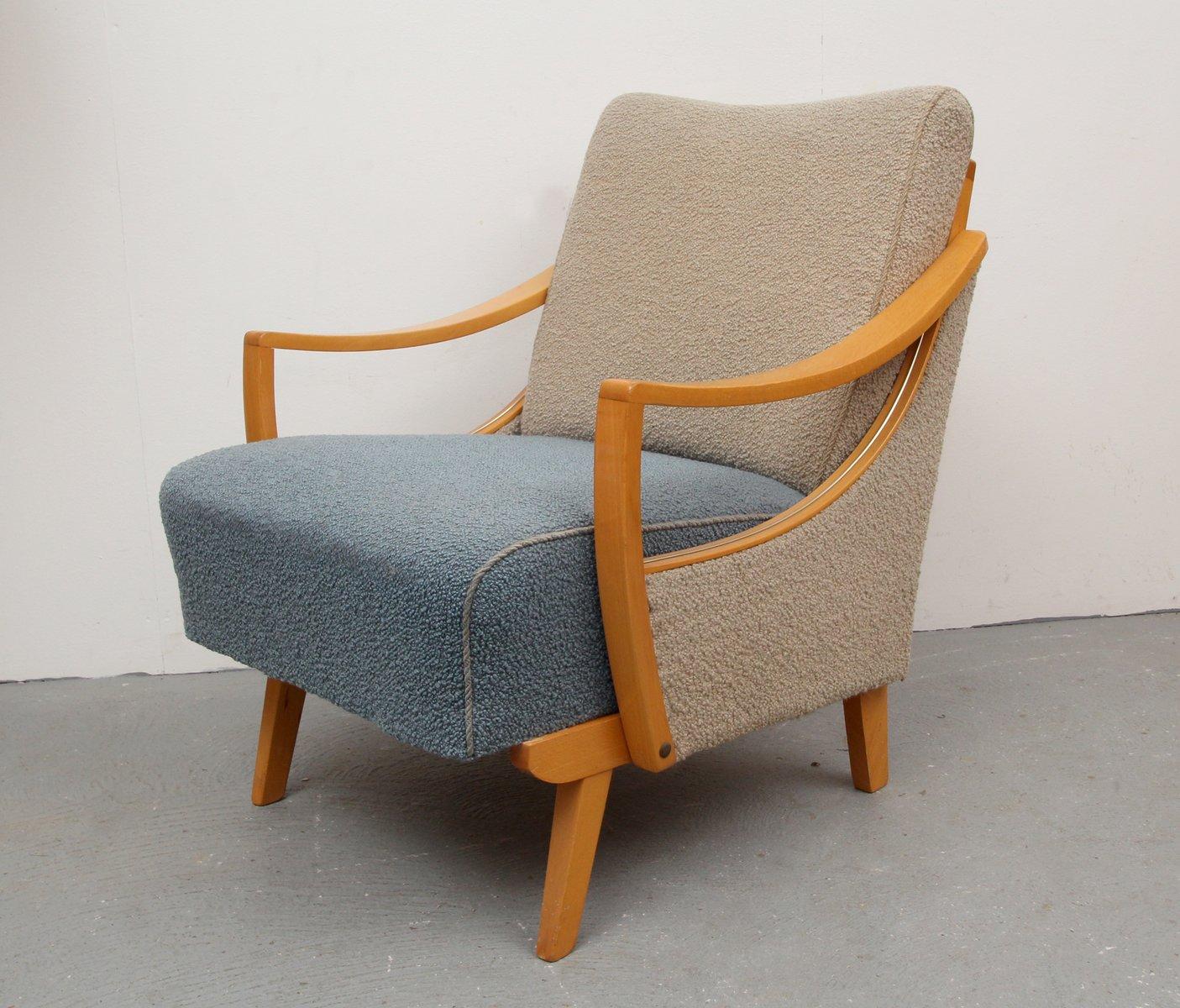 fauteuil bicolore beige et bleu canard 1950s 1 Résultat Supérieur 50 Inspirant Fauteuil Bleu Paon Pic 2017 Kae2