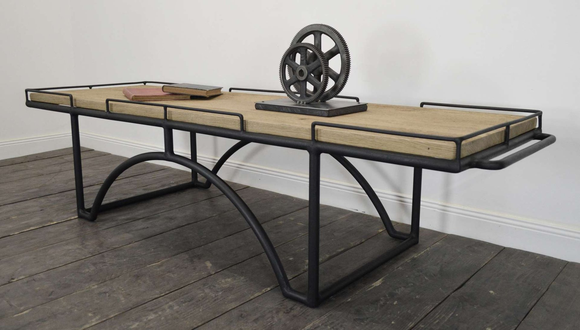 Vintage Industrial Rectangular Coffee Table For Sale At Pamono