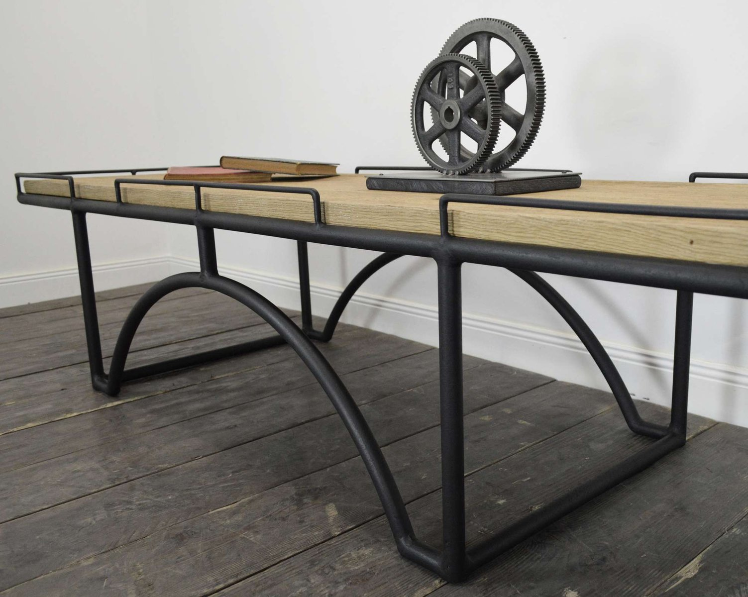 vintage industrial rectangular coffee table for sale at pamono. Black Bedroom Furniture Sets. Home Design Ideas