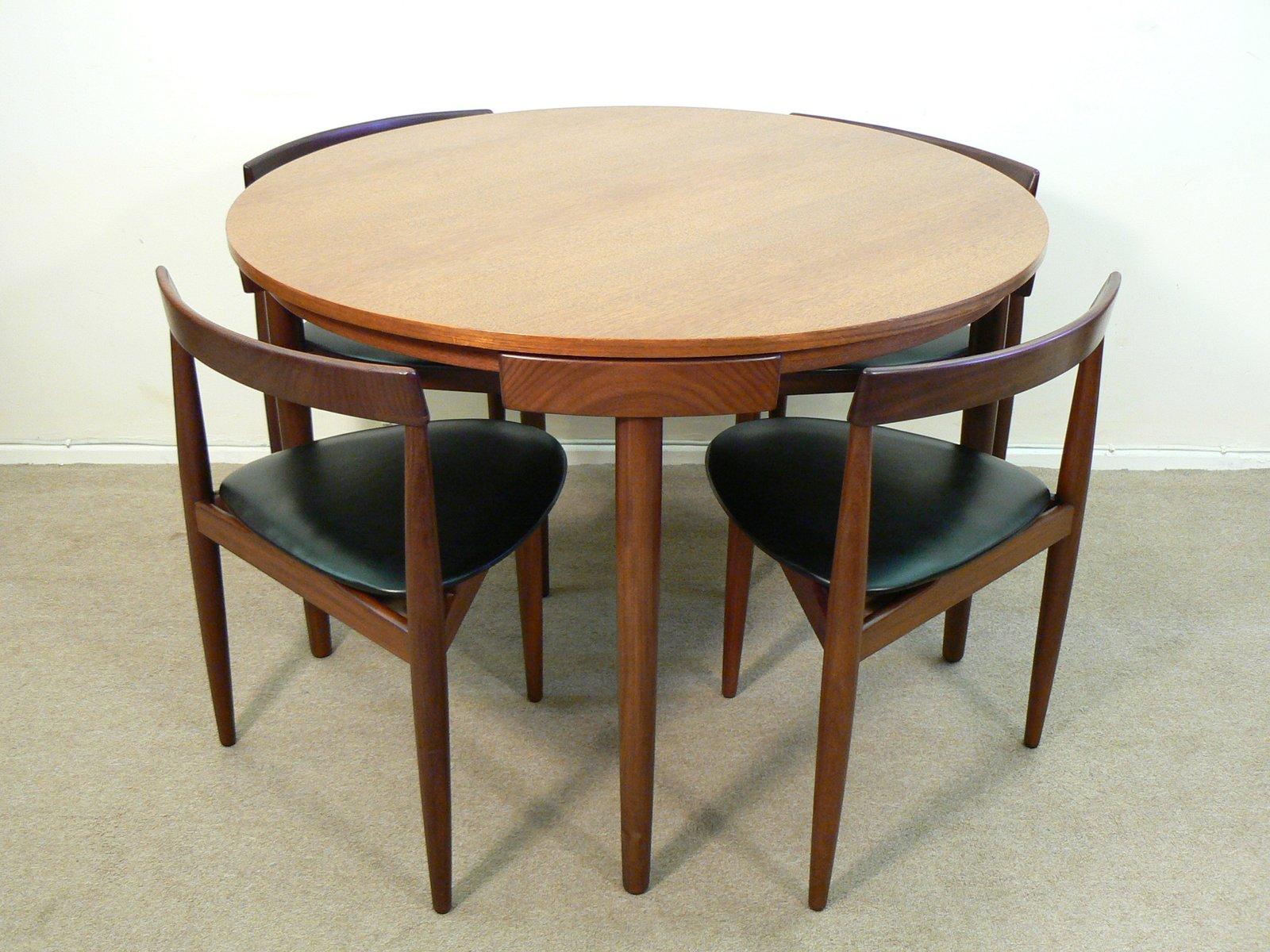 Exceptional Dining Table Set By Hans Olsen For Frem Rojle, 1960s