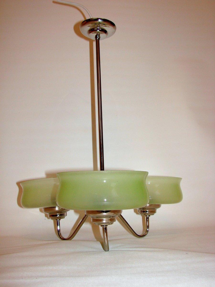 vintage messing glas kronleuchter bei pamono kaufen. Black Bedroom Furniture Sets. Home Design Ideas