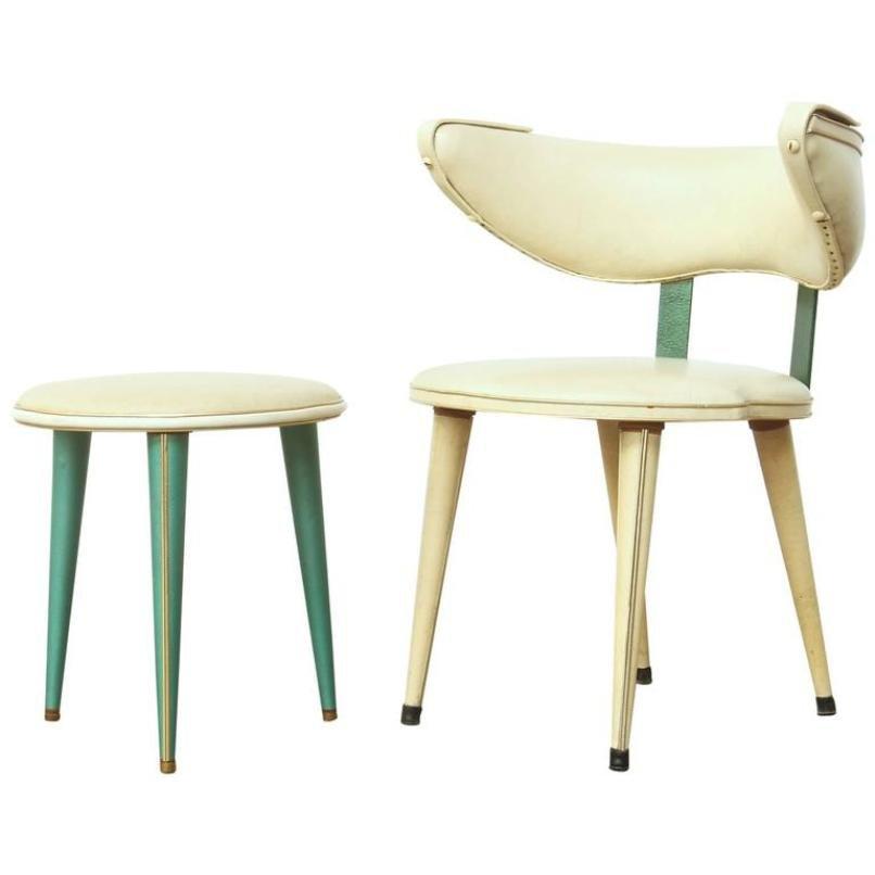 italienischer mid century stuhl hocker von umberto mascagni bei pamono kaufen. Black Bedroom Furniture Sets. Home Design Ideas