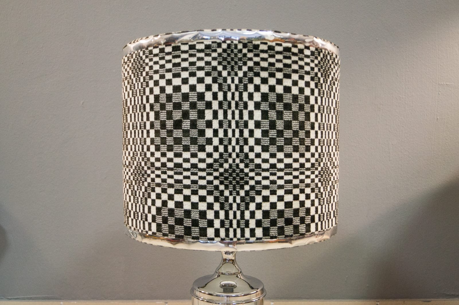 Geometric op art chrome table lamp 1970s for sale at pamono geotapseo Gallery
