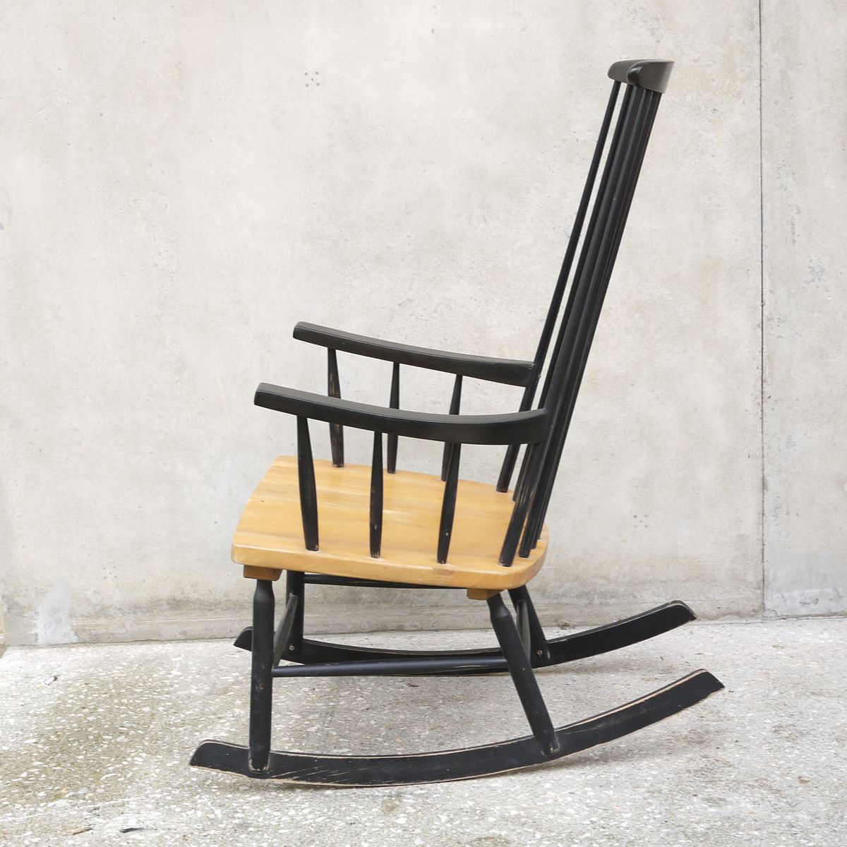 Black Rocking Chair 1960s For Sale At Pamono. Full resolution  img, nominally Width 1200 Height 1200 pixels, img with #966B35.