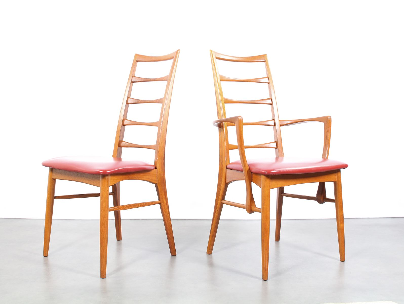 Mid Century Danish Chairs By Niels Koefoed For Hornslet Mobelfabrik, 1960s,  Set Of 8
