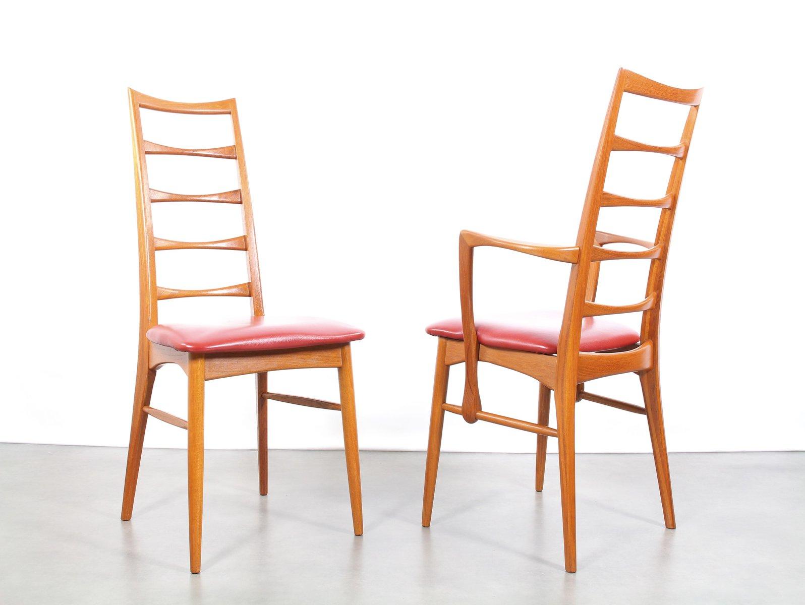 d nische mid century st hle von niels koefoed f r hornslet mobelfabrik 1960er 8er set bei. Black Bedroom Furniture Sets. Home Design Ideas