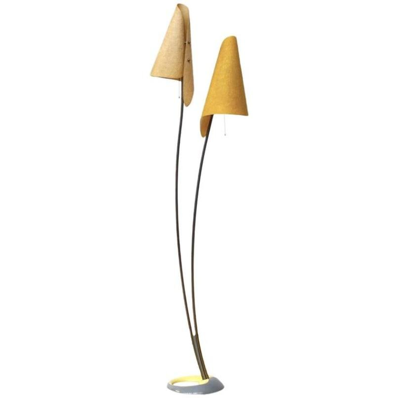 German yellow floor lamp 1960s for sale at pamono for Giant floor lamp yellow