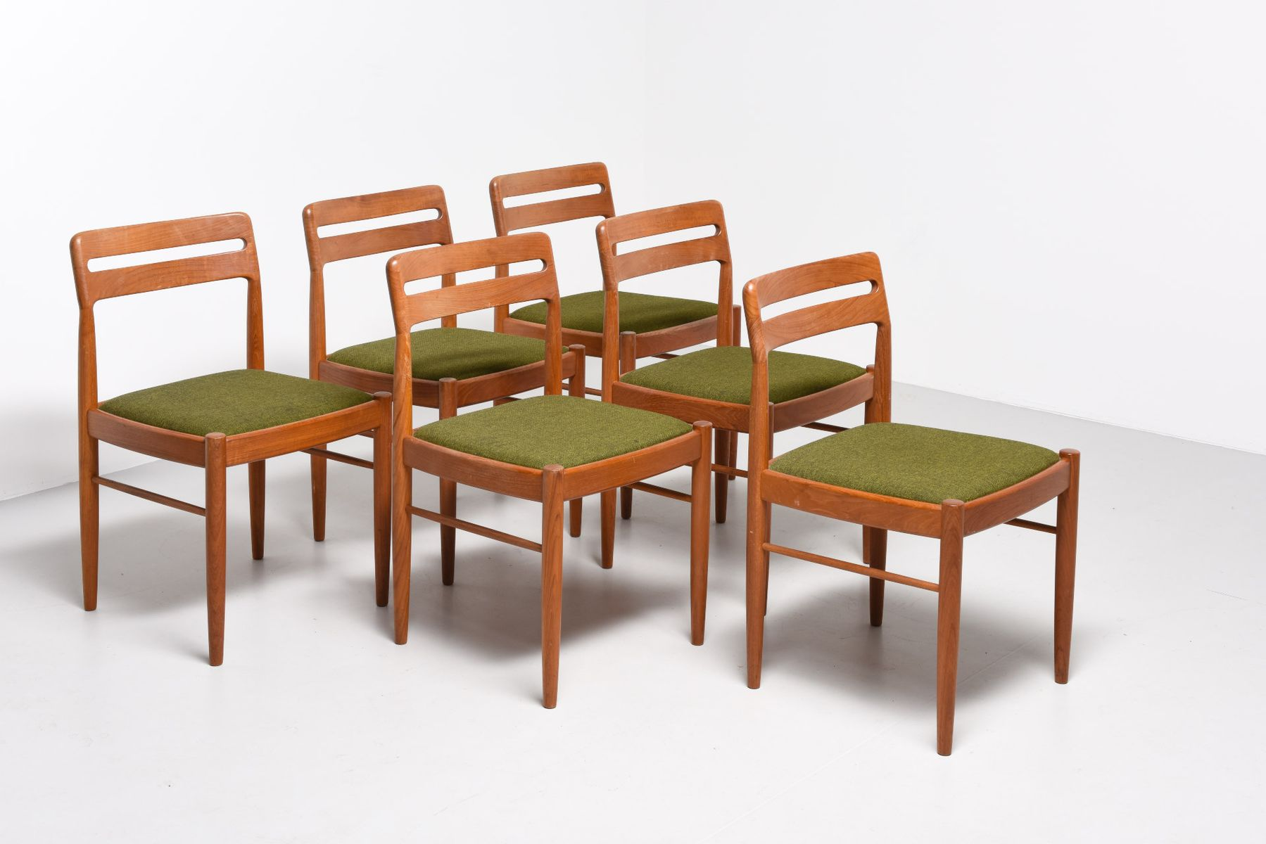 Mid century dining chairs by h w klein for bramin møbler