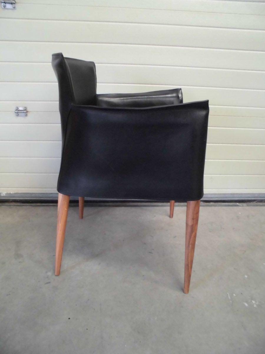 schwarzer vela sessel von carlo bartoli f r matteo grassi. Black Bedroom Furniture Sets. Home Design Ideas