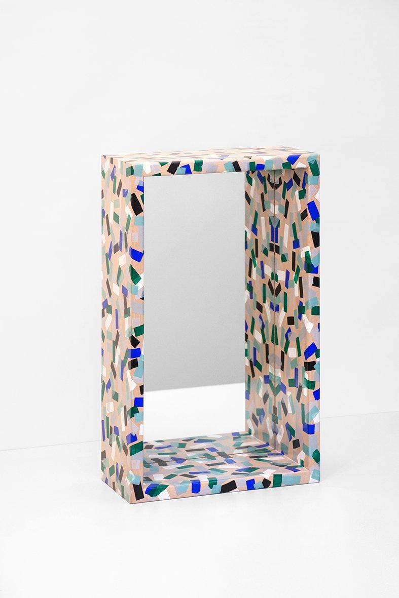 franz sischer bunter no 2 spiegel von ferr ol babin bei pamono kaufen. Black Bedroom Furniture Sets. Home Design Ideas