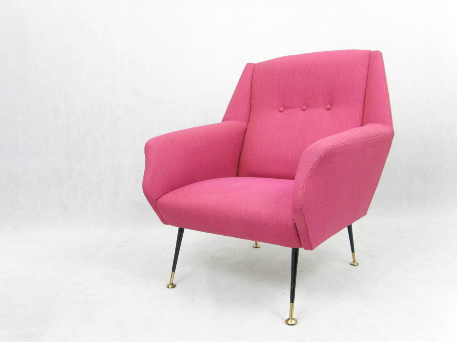 italienischer mid century sessel in pink 1950er bei pamono kaufen. Black Bedroom Furniture Sets. Home Design Ideas