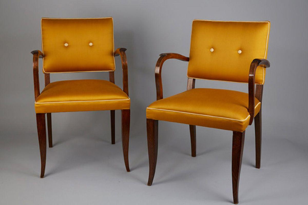 franz sische art deco bridge st hle 1942 2er set bei. Black Bedroom Furniture Sets. Home Design Ideas
