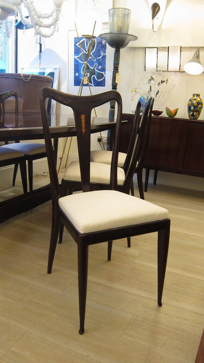 chaises de salle manger et table vintage par guglielmo. Black Bedroom Furniture Sets. Home Design Ideas