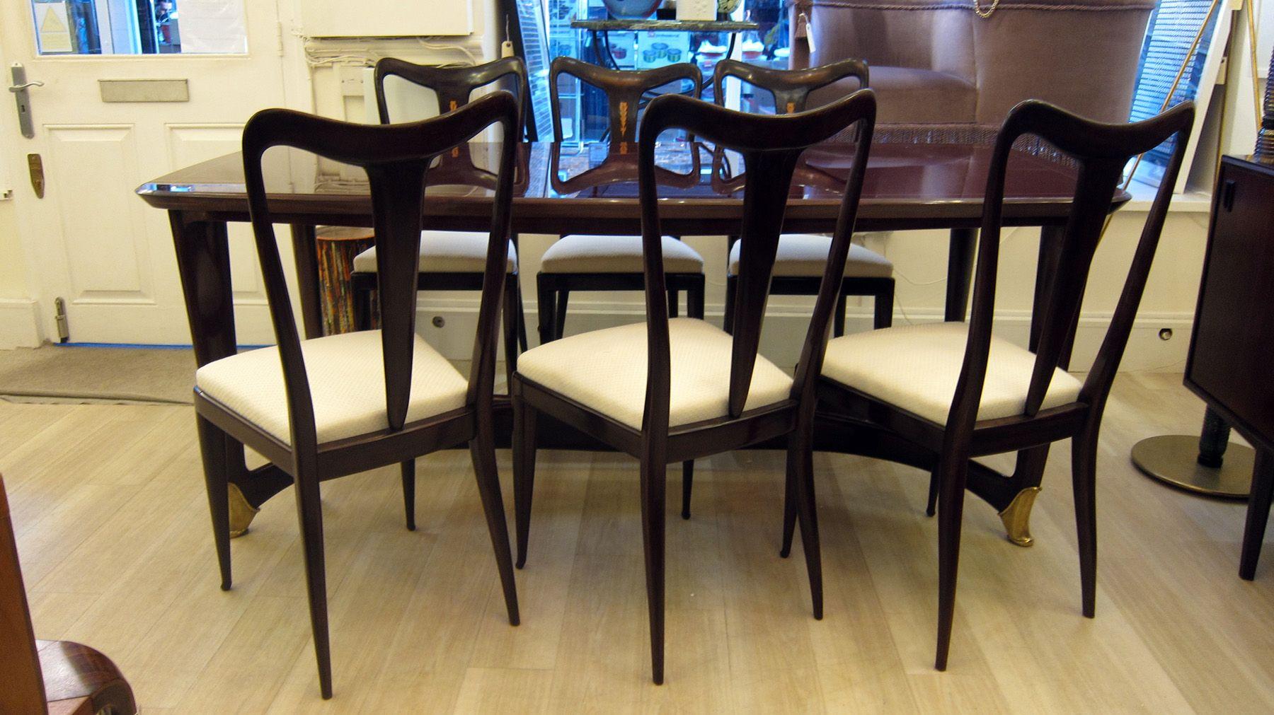 Chaises de salle manger et table vintage par guglielmo - Set de table en anglais ...