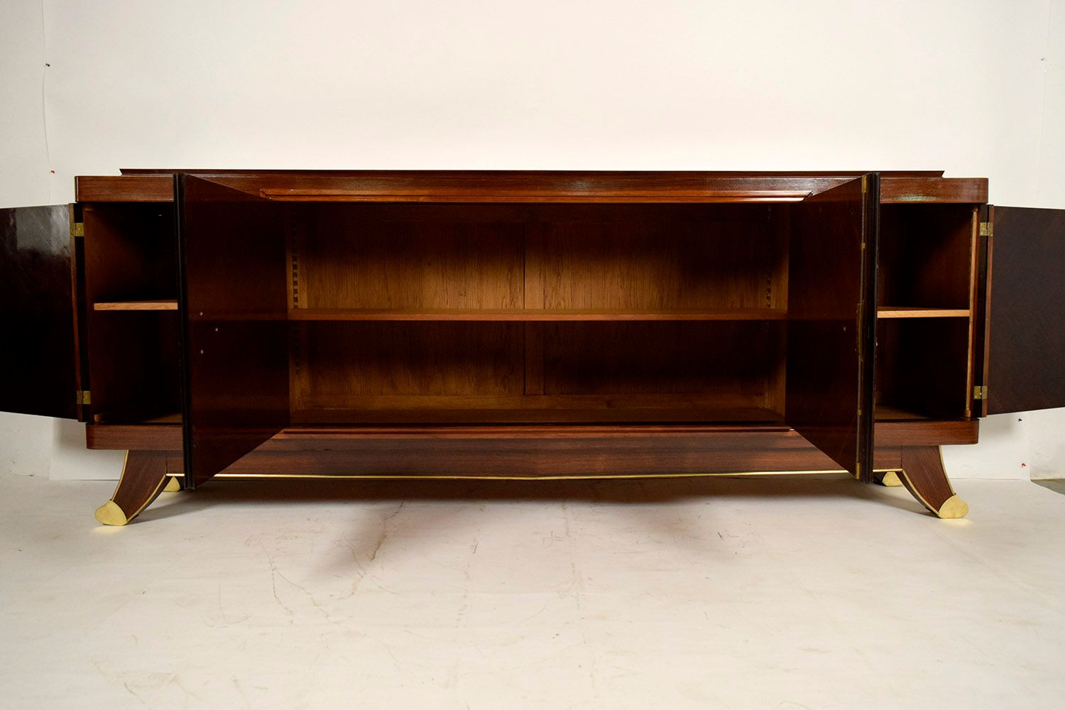 french art deco long mahogany buffet 1930s for sale at pamono. Black Bedroom Furniture Sets. Home Design Ideas