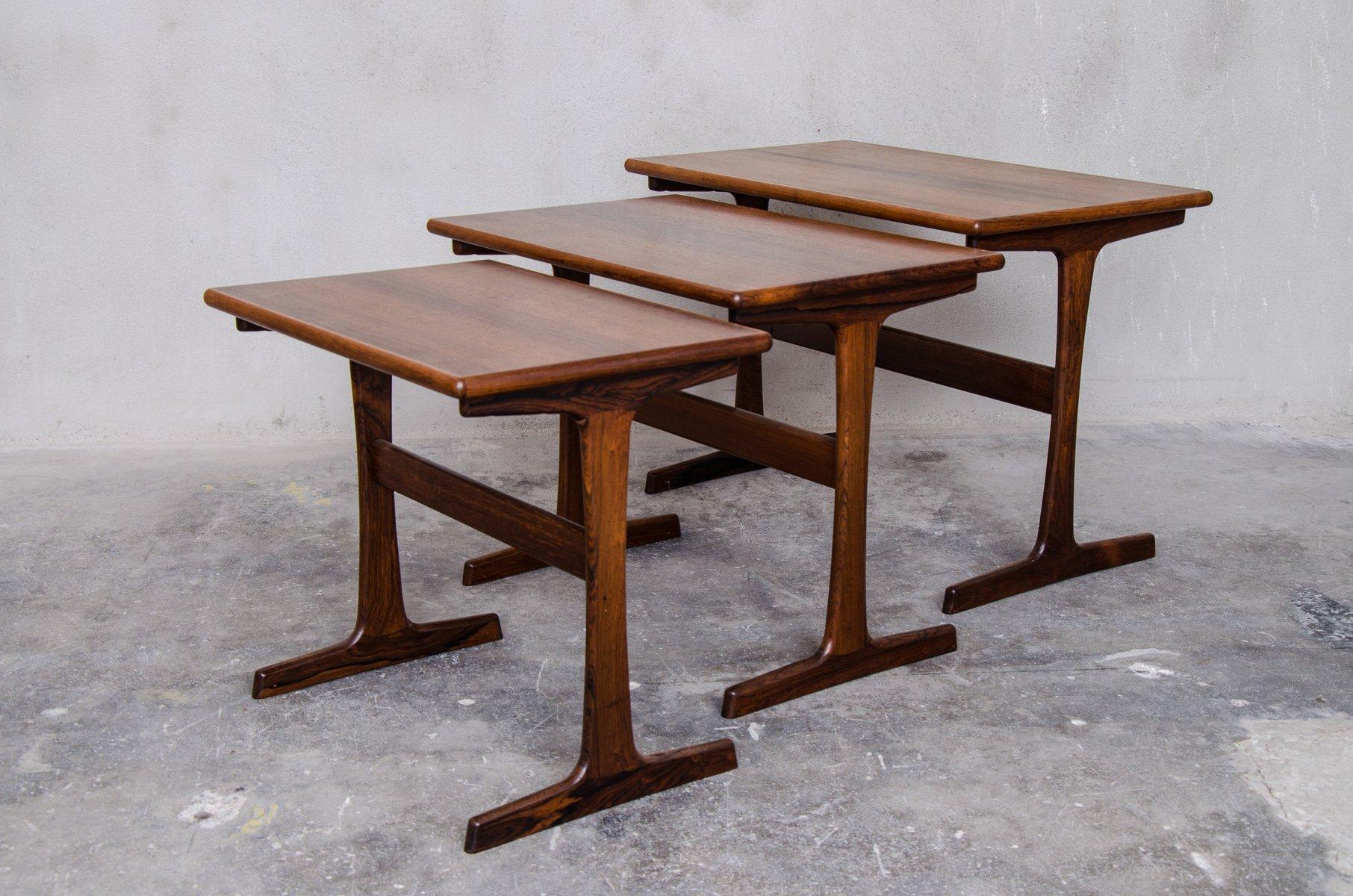 Vintage nesting tables by kai kristiansen for vildbjerg