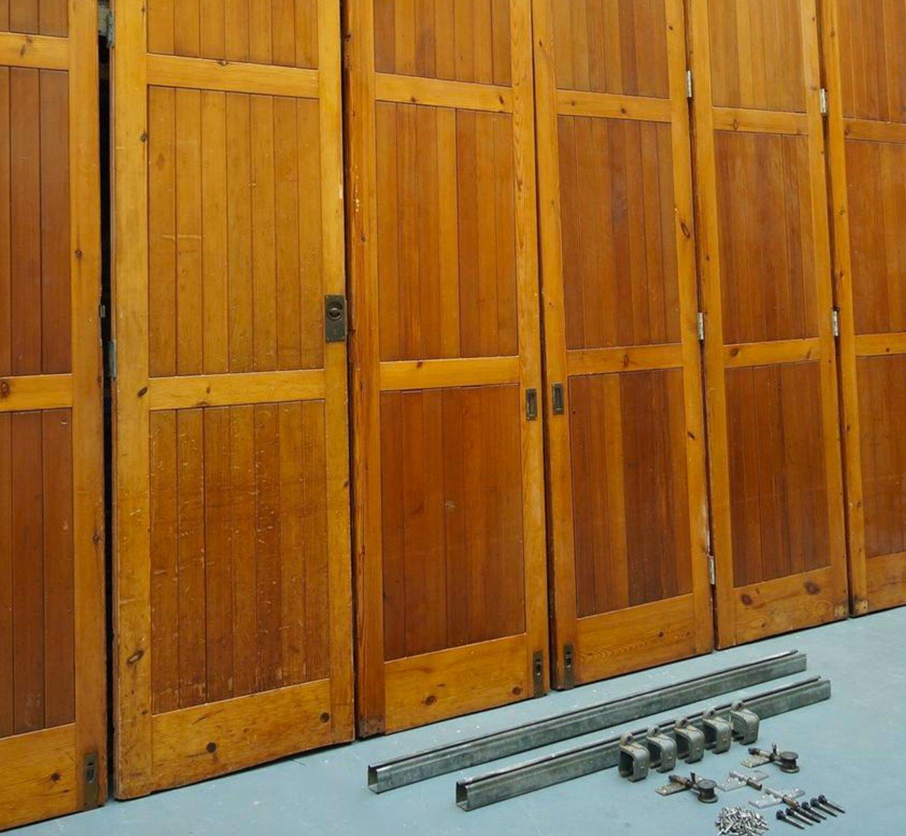 Folding Doors Room Dividers : Vintage architectural oregon pine room divider bi folding