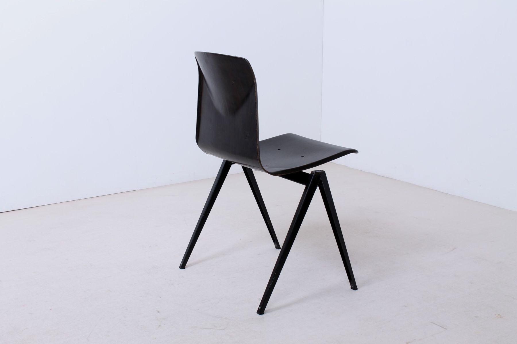 schwarze s 22 thur op seat st hle von galvanitas 1960er 6er set bei pamono kaufen. Black Bedroom Furniture Sets. Home Design Ideas