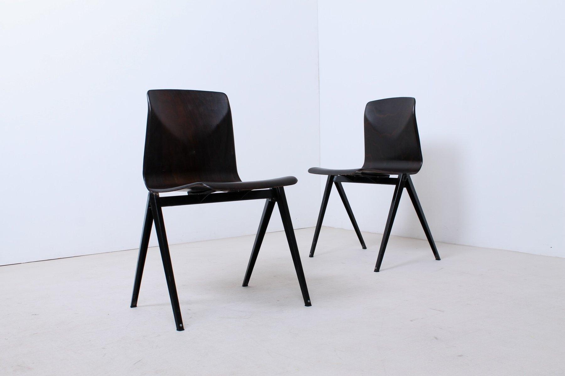 schwarze s 22 thur op seat st hle von galvanitas 1960er. Black Bedroom Furniture Sets. Home Design Ideas