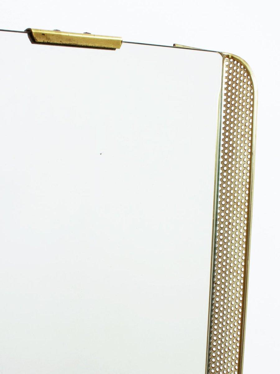 deutscher spiegel mit gelochtem metallrahmen messing. Black Bedroom Furniture Sets. Home Design Ideas
