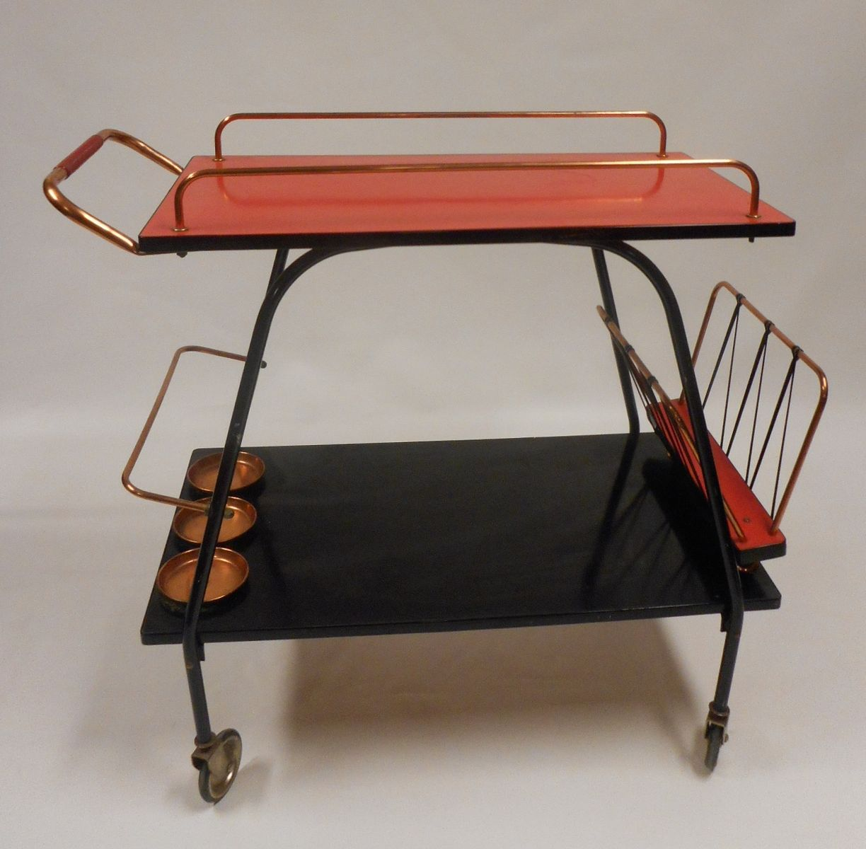 midcentury metal u0026 formica drinks trolley