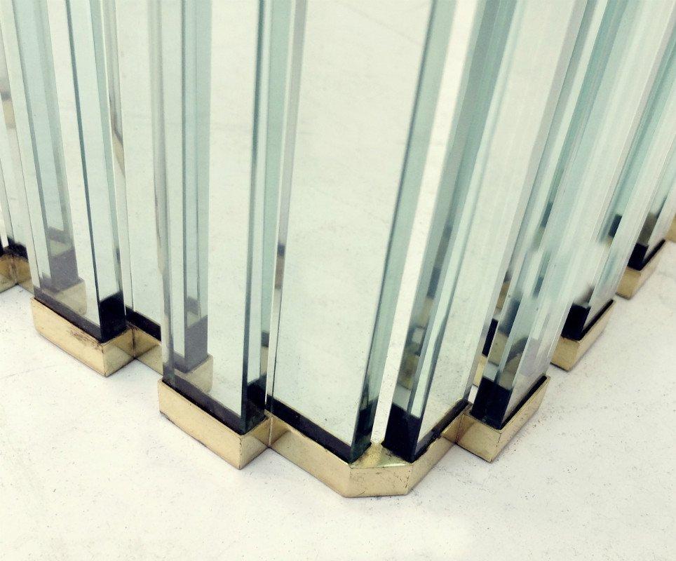 gold metall glas couchtisch 1970er bei pamono kaufen. Black Bedroom Furniture Sets. Home Design Ideas