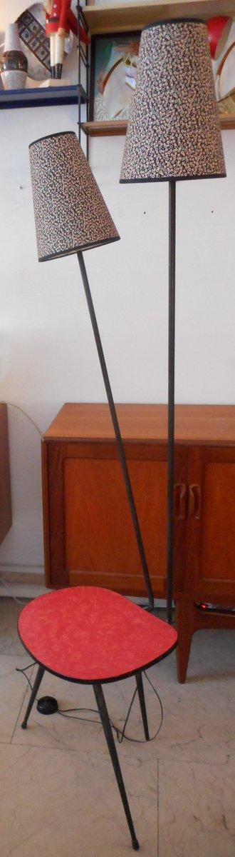 vintage stehlampe mit beistelltisch bei pamono kaufen. Black Bedroom Furniture Sets. Home Design Ideas