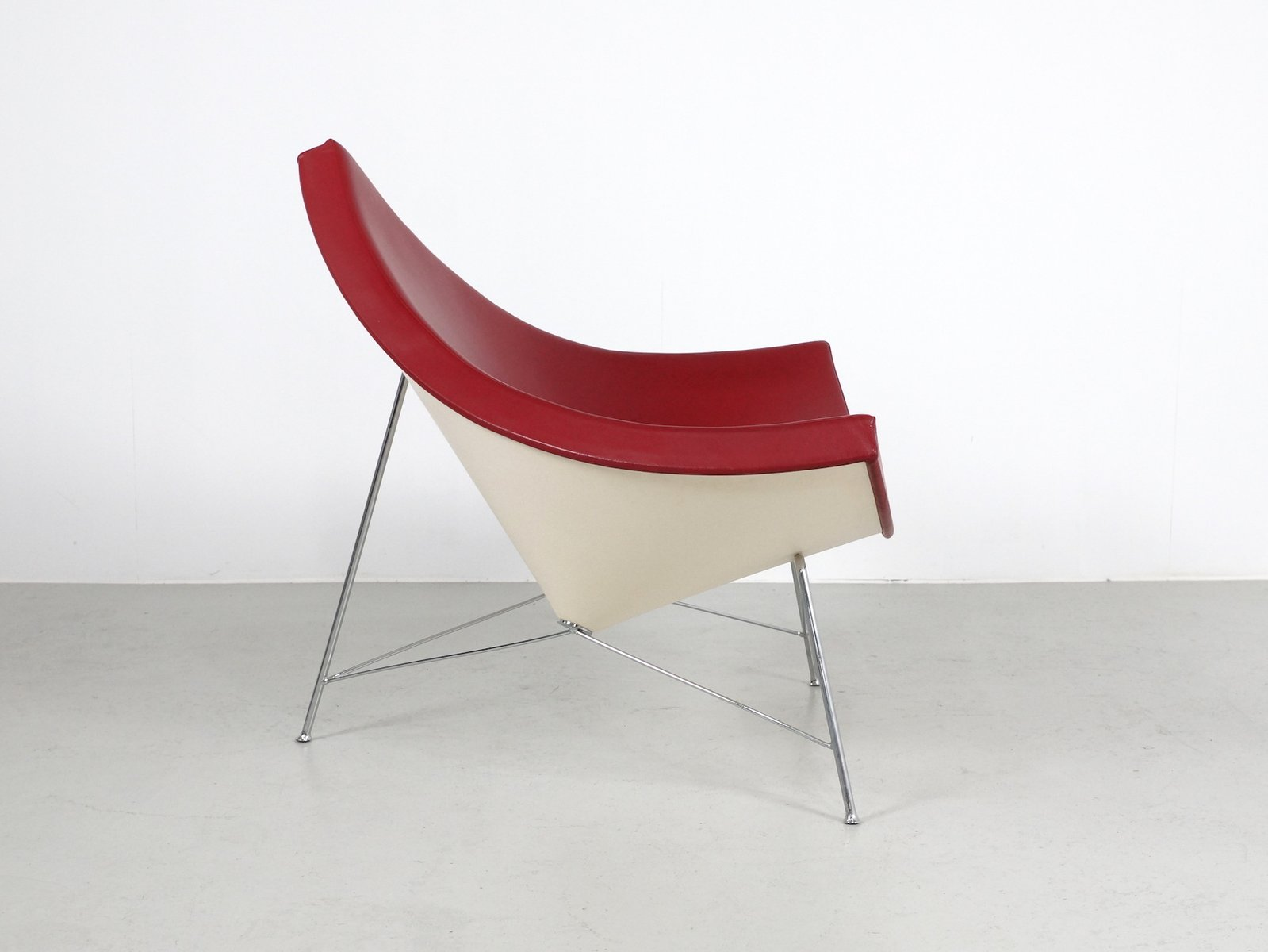 vintage oxblood red leather coconut chair by george nelson for vitra for sale at pamono. Black Bedroom Furniture Sets. Home Design Ideas