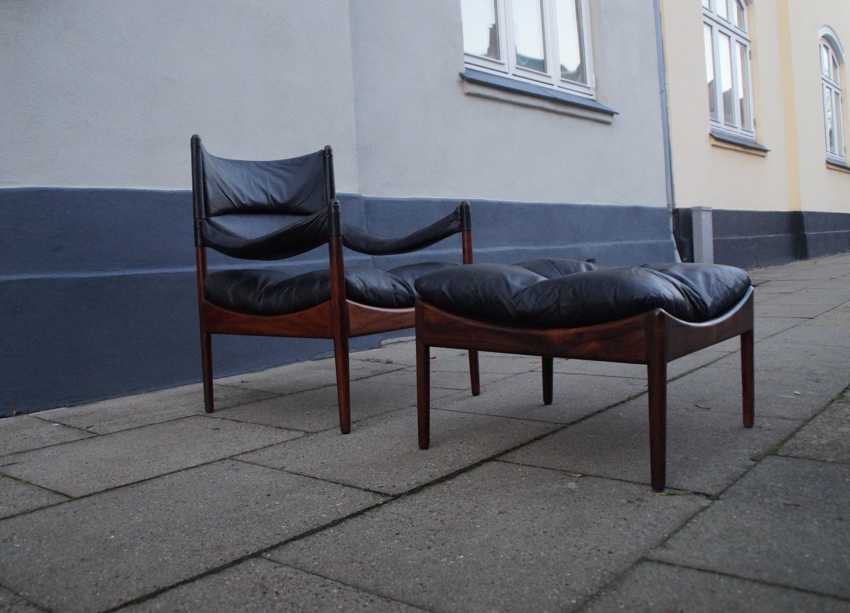 Modus Lounge Chair & Ottoman by Kristian S Vedel for S¸ren