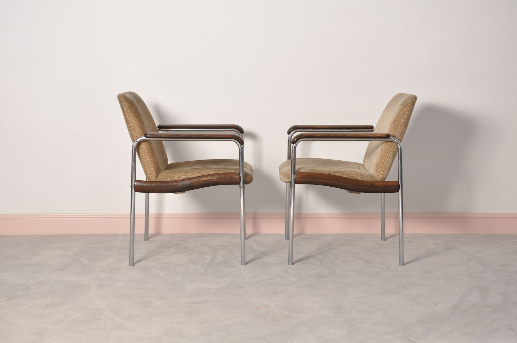 Italian side chairs 1970s set of 2 for sale at pamono for Side chairs for sale