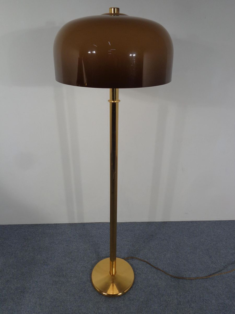 Brass plastic floor lamp 1970s for sale at pamono for 1970s floor lamps